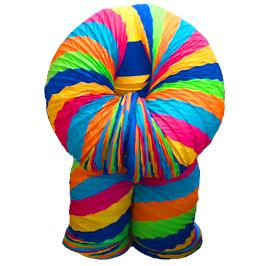 Rainbow slinky costume