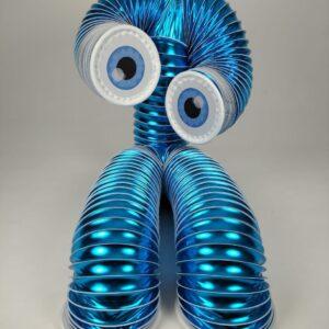 Human slinky costume blue 02